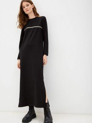 Черное зимнее платье Rene Santi
