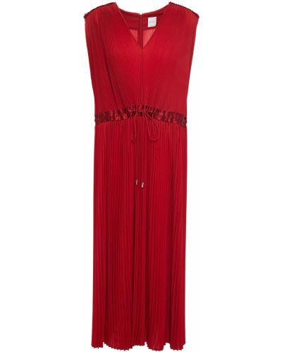 Шелковое платье миди - красное Paul Smith