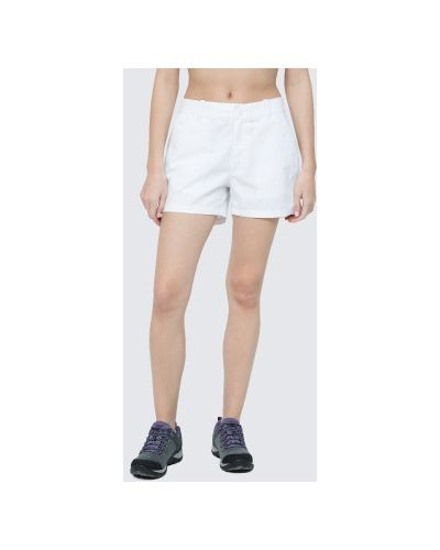 Хлопковые белые шорты с карманами Columbia