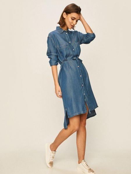 Пышное джинсовое платье Pepe Jeans
