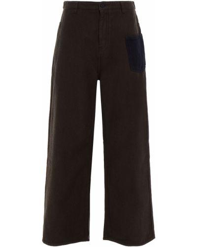 Niebieskie mom jeans z paskiem bawełniane Mcq Alexander Mcqueen