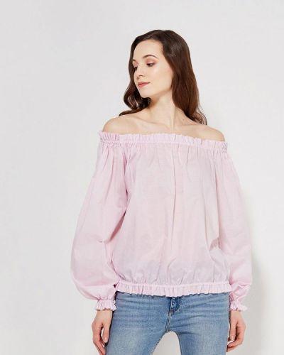Блузка с открытыми плечами розовая Anastasya Barsukova