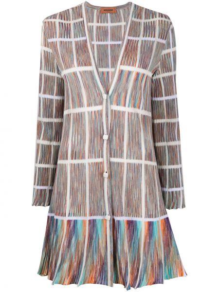 Długi płaszcz trykotowy zapinane na guziki Missoni