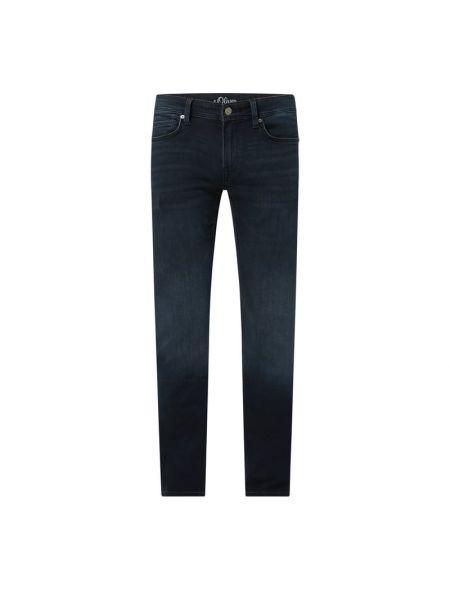 Mom jeans bawełniane - niebieskie S.oliver Black Label