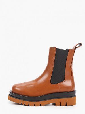Кожаные ботинки челси - коричневые Diora.rim