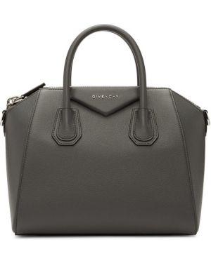 Топ кожаный серебряный Givenchy