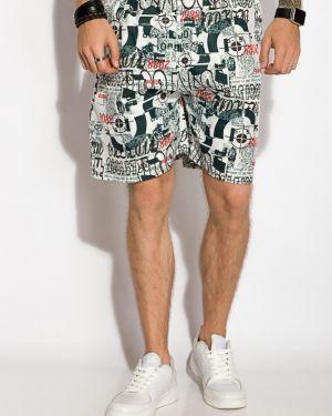 Пляжные шорты свободного кроя с поясом Time Of Style