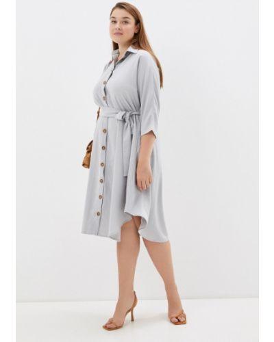 Платье рубашка - серое Mankato
