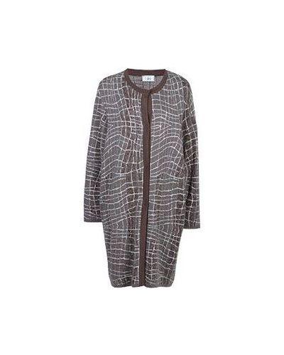 Шерстяное пальто - коричневое Giorgio Grati