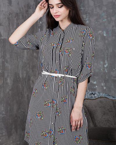 Платье платье-рубашка из вискозы азалия