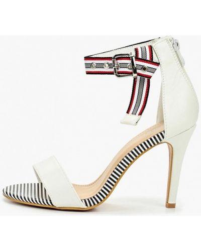 Босоножки белые на каблуке Coco Perla