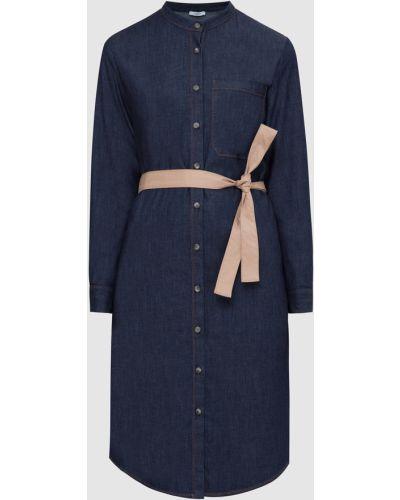 Синее платье миди Peserico