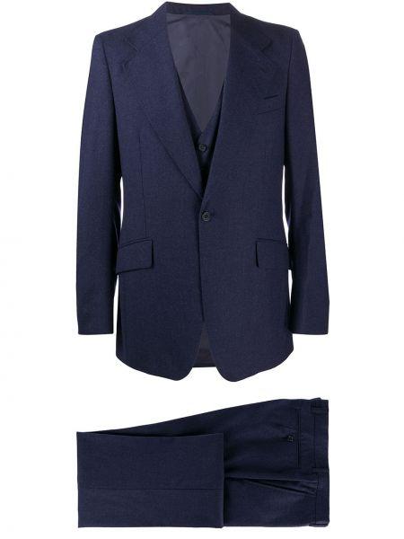 Wełniany garnitur trójka bez rękawów z paskiem zapinane na guziki Givenchy Pre-owned