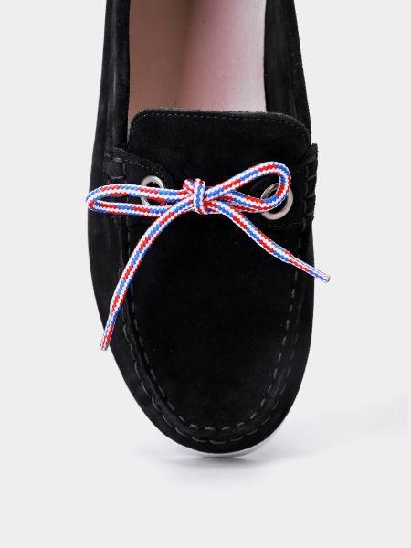 Синие замшевые мокасины на шнурках Filipe Shoes