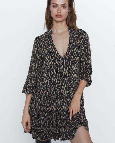 Платье с V-образным вырезом Zara