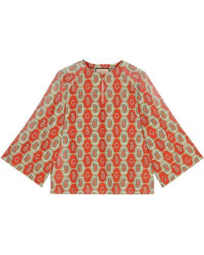 Koszula z printem - zielona Gucci