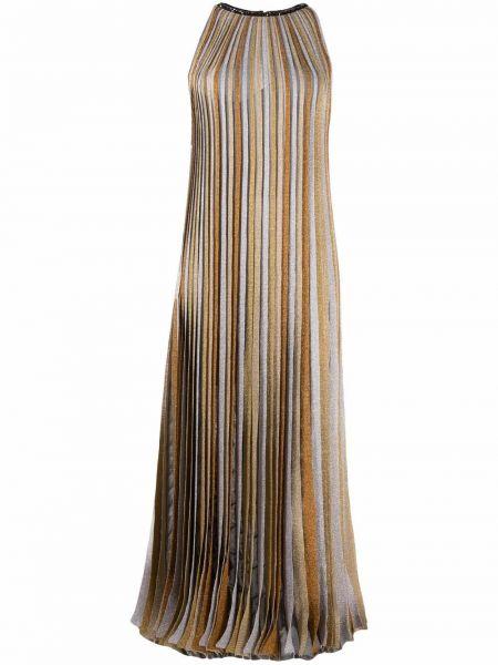 Платье макси без рукавов - бежевое Missoni