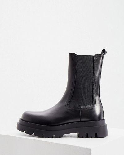 Черные кожаные ботинки Twinset Milano