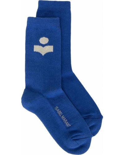 Синие хлопковые носки Isabel Marant