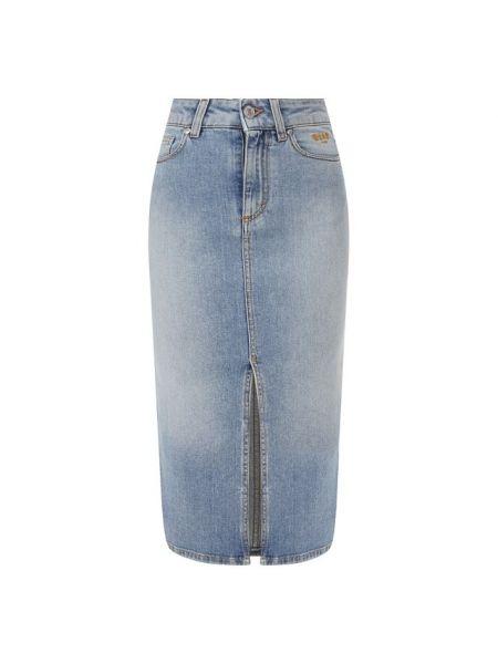 Джинсовая юбка с вырезом футбольный Msgm
