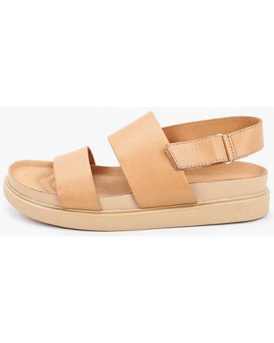 Бежевые кожаные сандалии Vagabond
