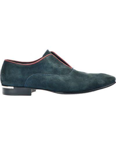 Синие туфли замшевые Roberto Cavalli