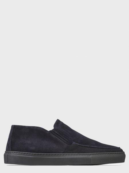 Кожаные ботинки - синие Corneliani