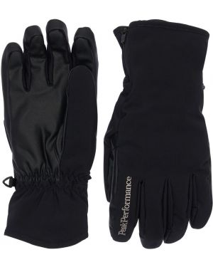Czarne rękawiczki z haftem Peak Performance