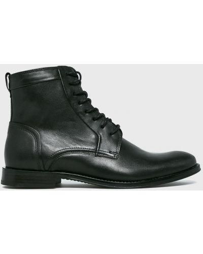 Ботинки на шнуровке кожаные высокие Wojas