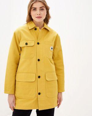 Теплая желтая куртка Carhartt
