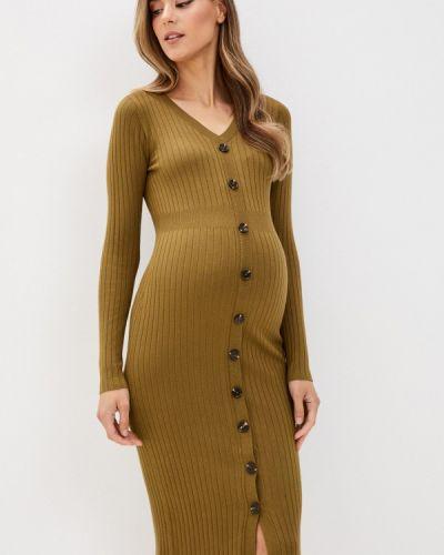 Платье для беременных хаки Mama.licious