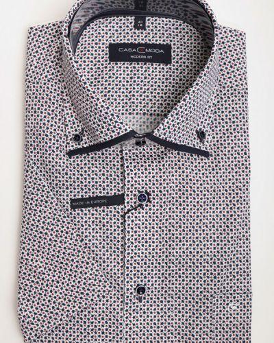 Хлопковая рубашка с коротким рукавом с воротником Casa Moda