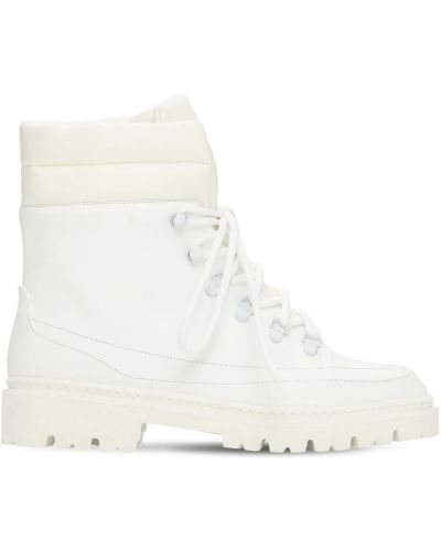 Ботильоны на каблуке - белые Gia Couture