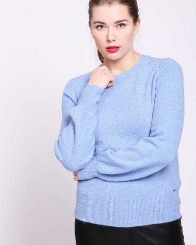 Голубой пуловер шерстяной Taifun