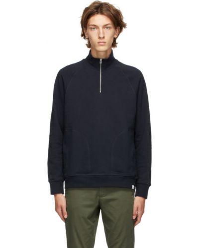 Sweter z długimi rękawami srebrny Norse Projects