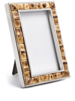 Oprawka do okularów srebrne - brązowe Lorenzi Milano