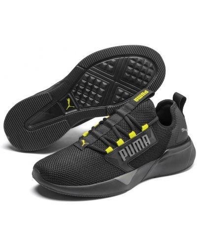 Спортивные черные текстильные кроссовки беговые для бега Puma