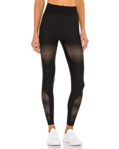 Czarne legginsy z siateczką z paskiem Ultracor