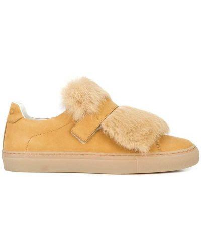 Кожаные кроссовки коричневый Koio