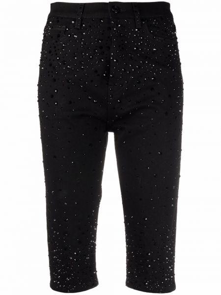 Черные шорты из эластана Alexandre Vauthier