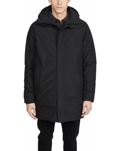 Prążkowana czarna kurtka z kapturem Norse Projects