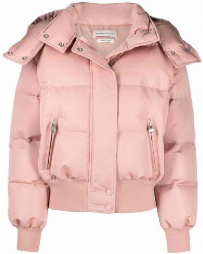 Różowy płaszcz Alexander Mcqueen