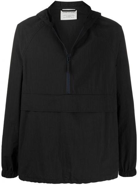 Прямая черная облегченная длинная куртка A Kind Of Guise