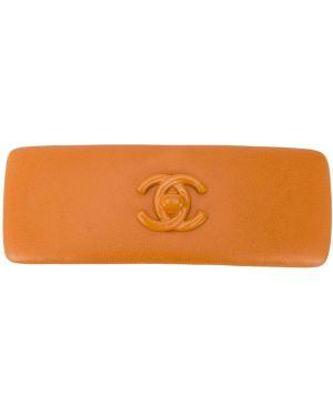 Заколка винтажный оранжевый Chanel Pre-owned