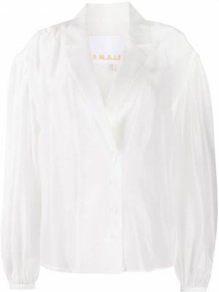 Bluzka biała z klapami Remain