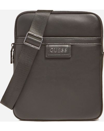 Кожаная сумка - черная Guess