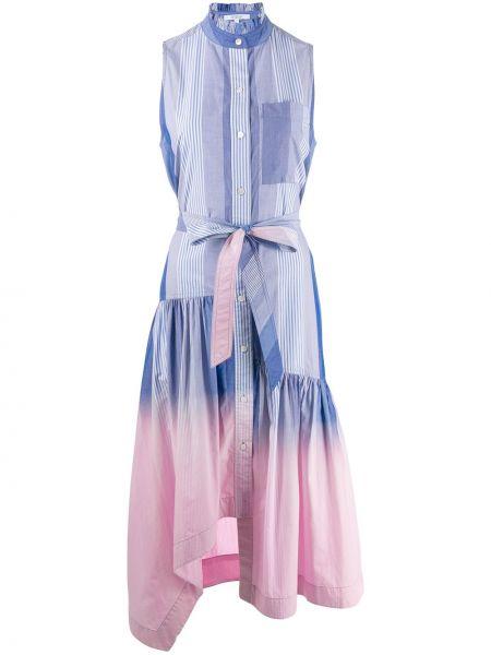Платье макси розовое в полоску Derek Lam 10 Crosby
