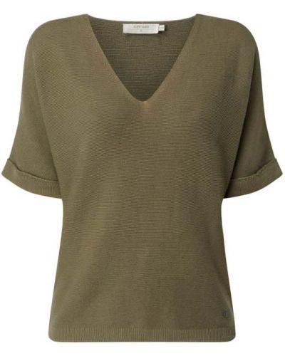 Bluzka prążkowana - zielona Cream