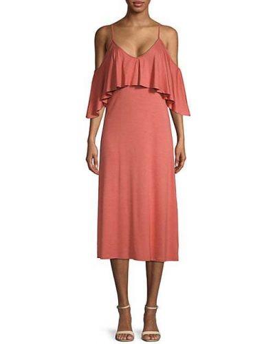 С ремешком платье миди на бретелях с V-образным вырезом Rachel Pally