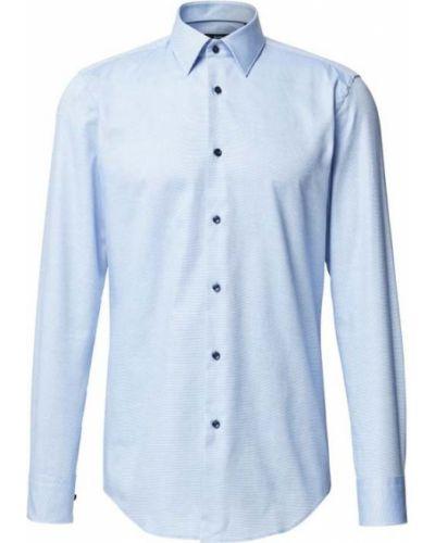 Niebieska koszula slim bawełniana Boss
